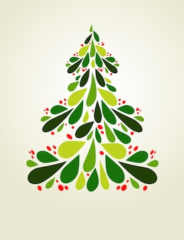 Abstracte kerstboom achtergrond voor poster, spandoek of wenskaart
