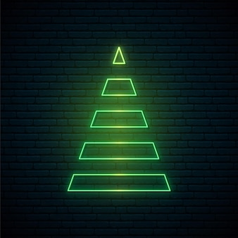 Abstracte kerstboom in neonstijl.