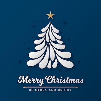 Abstracte kerstboom met gouden ster