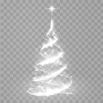 Abstracte kerstboom van licht