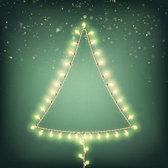 Abstracte kerstboom van lichten kaart.
