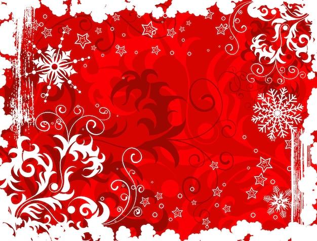 Abstracte kerstmisachtergrond met sneeuwvlokken, element voor ontwerp, vectorillustratie