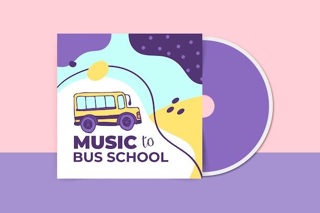 Abstracte kinderlijke educatieve cd-hoes