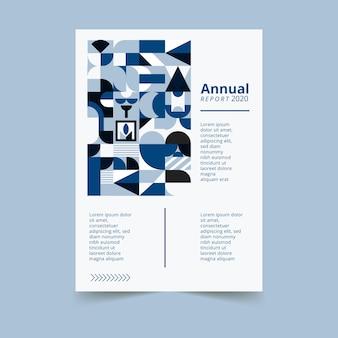 Abstracte klassieke blauwe poster sjabloonstijl