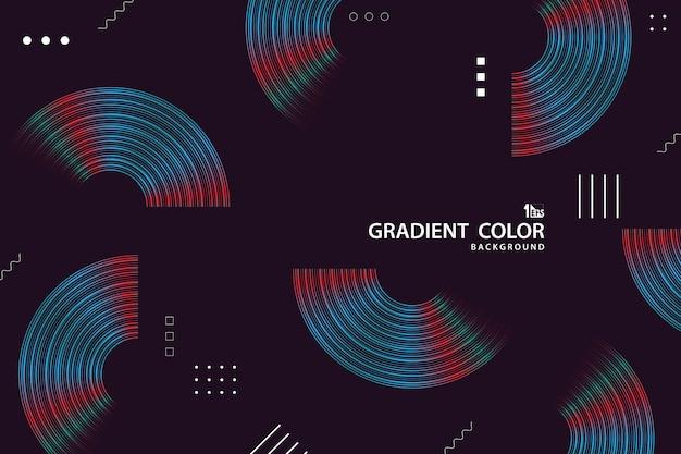 Abstracte kleur streep lijn van levendige tech kleur geometrische sjabloon ontwerp achtergrond.