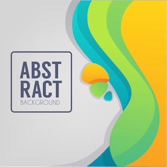 Abstracte kleurenstroomachtergrond voor uw eigen vlieger of bannermalplaatje