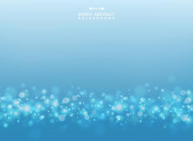 Abstracte kleurovergang blauw en wit ontwerp met patroon stippen bokeh achtergrond. illustratie eps10 Premium Vector
