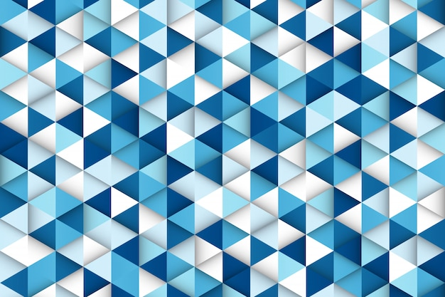 Abstracte kleurovergang blauw van technologie driehoek patroon ontwerp achtergrond. Premium Vector