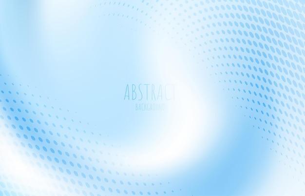 Abstracte kleurovergang blauwe golvende streep lijnpatroon met halftone sjabloon. versier voor advertentie, poster, omslagontwerp. illustratie vector