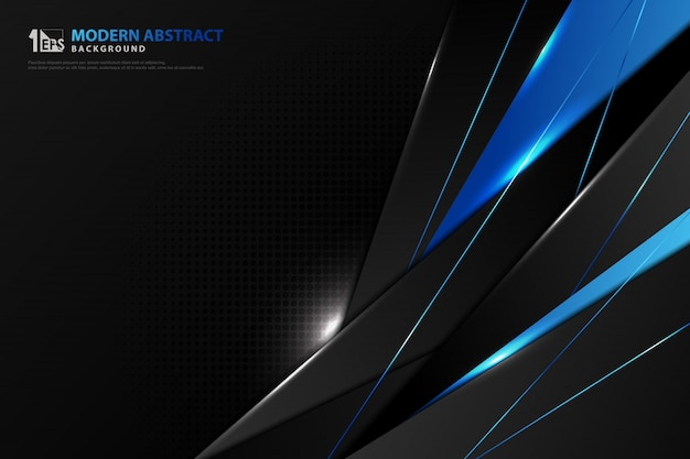 Abstracte kleurovergang blauwe technologie glanzende sjabloon ontwerp achtergrond.