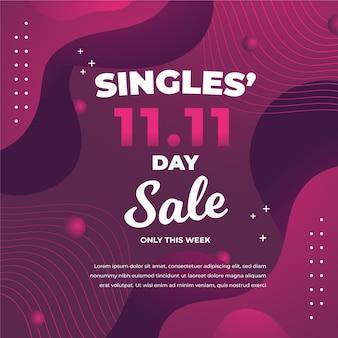 Abstracte kleurovergang singles dag concept