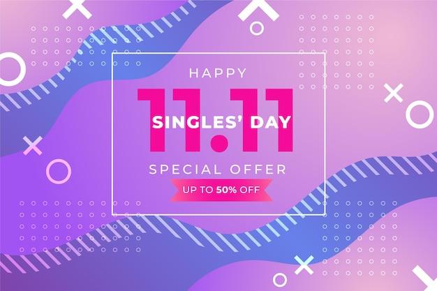 Abstracte kleurovergang singles dag