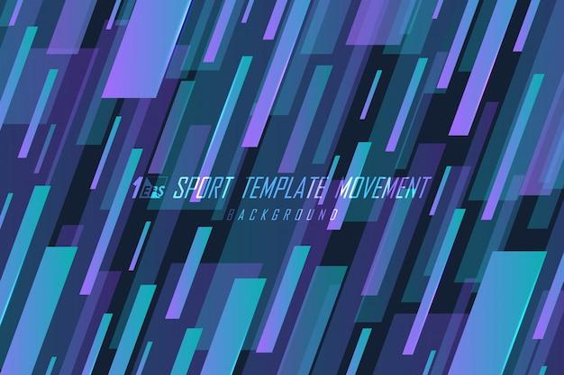 Abstracte kleurovergang streep lijn sport ontwerp artwork sjabloon achtergrond.