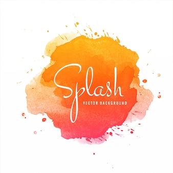Abstracte kleurrijke aquarel splash achtergrond
