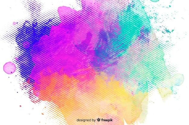 Abstracte kleurrijke aquarel vlek achtergrond