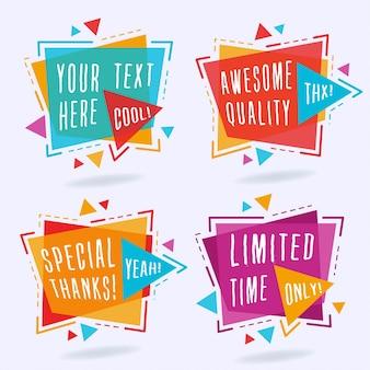 Abstracte kleurrijke banners