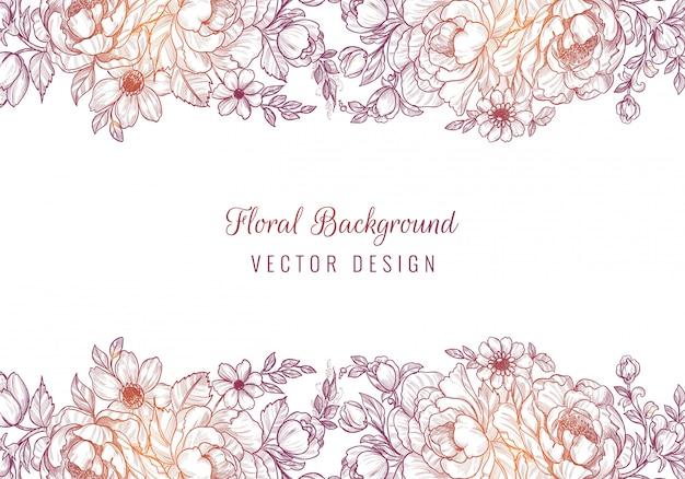 Abstracte kleurrijke bloemen tekenen en schetsen achtergrond