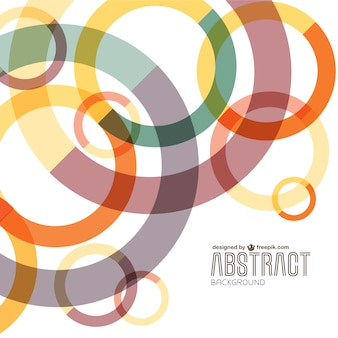 Abstracte kleurrijke cirkels achtergrond