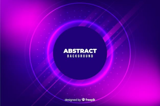 Abstracte kleurrijke cirkels en lijnenachtergrond