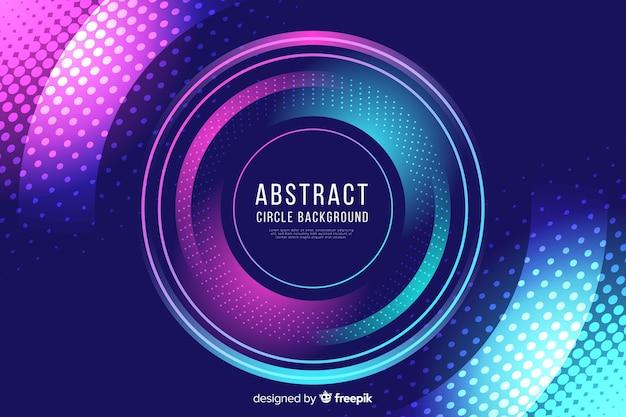 Abstracte kleurrijke cirkels en puntenachtergrond