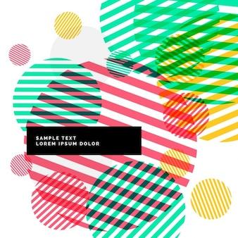 Abstracte kleurrijke cirkels strepen achtergrond