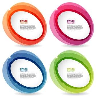 Abstracte kleurrijke cirkels