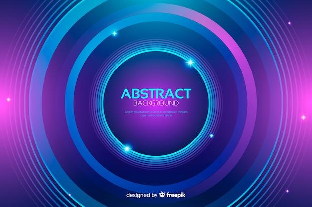 Abstracte kleurrijke cirkelsachtergrond