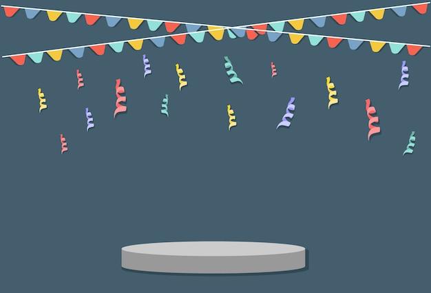 Abstracte kleurrijke confetti-explosie