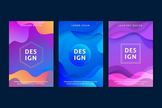 Abstracte kleurrijke cover collectie concept