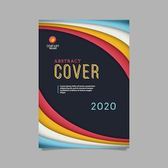 Abstracte kleurrijke cover