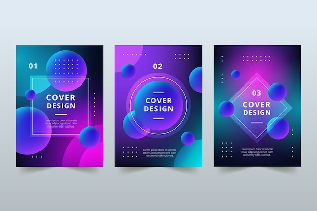 Abstracte kleurrijke covers concept