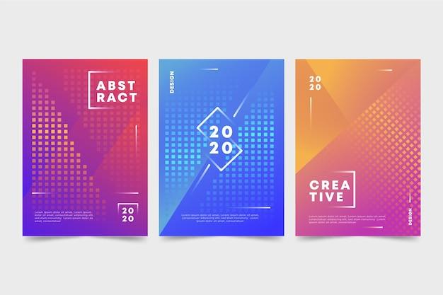 Abstracte kleurrijke covers pack