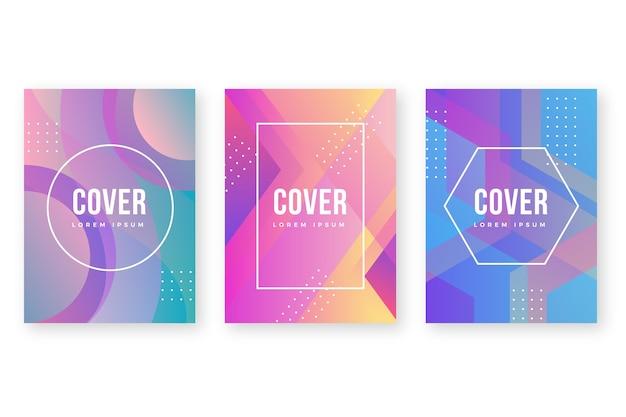Abstracte kleurrijke covers sjabloon stijl