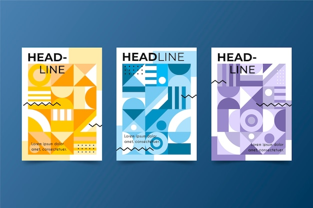 Abstracte kleurrijke covers thema