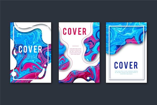 Abstracte kleurrijke covers
