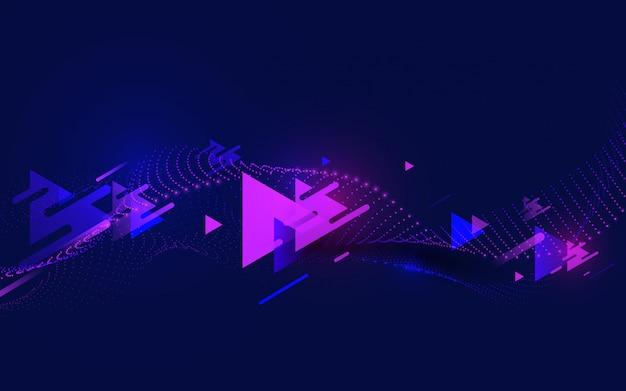 Abstracte kleurrijke de snelheidsachtergrond van de driehoekenmotie.