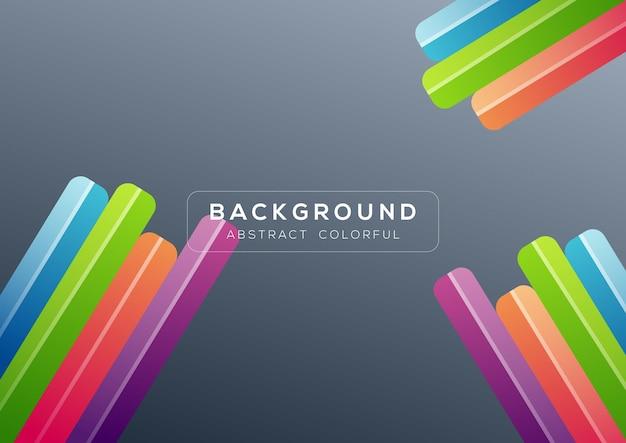 Abstracte kleurrijke donkergrijze ronde vormachtergrond