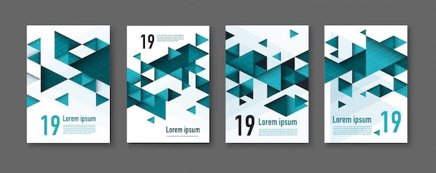Abstracte kleurrijke geometrische driehoekige achtergronden. moderne flyer.