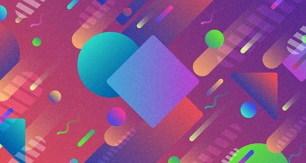 Abstracte kleurrijke geometrische het elementachtergrond van het patroonkunstwerk.