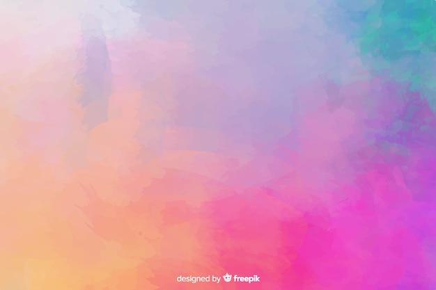 Abstracte kleurrijke geschilderde hand als achtergrond