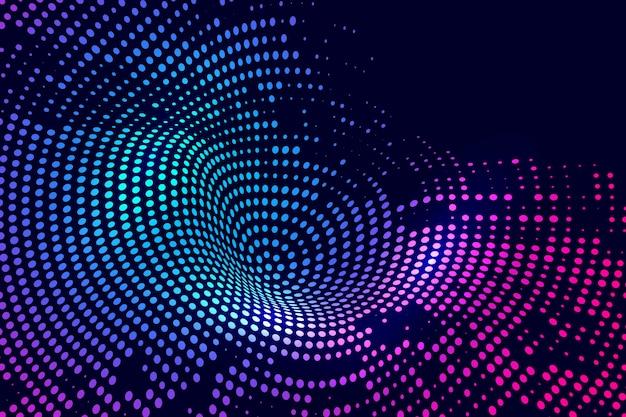 Abstracte kleurrijke gestippelde technologieachtergrond