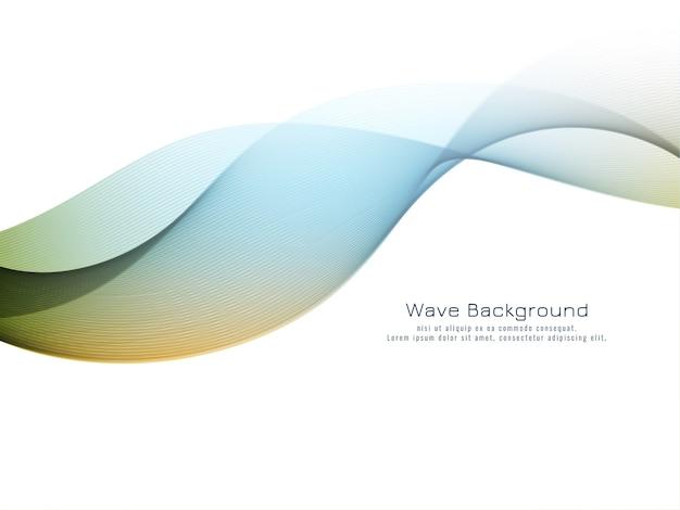 Abstracte kleurrijke golf elegante vector als achtergrond