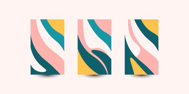 Abstracte kleurrijke golven achtergrond instellen