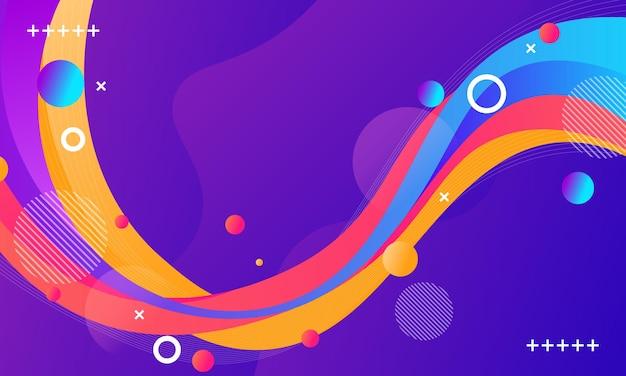 Abstracte kleurrijke gradiënt golfvorm achtergrond. achtergrond voor een mobiele telefoon.