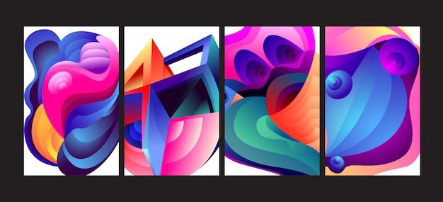 Abstracte kleurrijke gradiënt vloeibare achtergrond instellen.