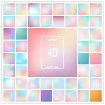 Abstracte kleurrijke gradiëntachtergrondreeks