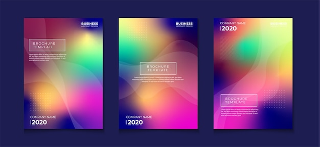 Abstracte kleurrijke gradiëntdekkingsreeks