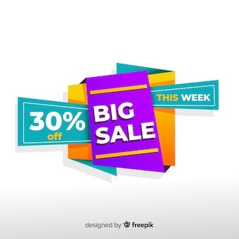 Abstracte kleurrijke grote verkoopbanner