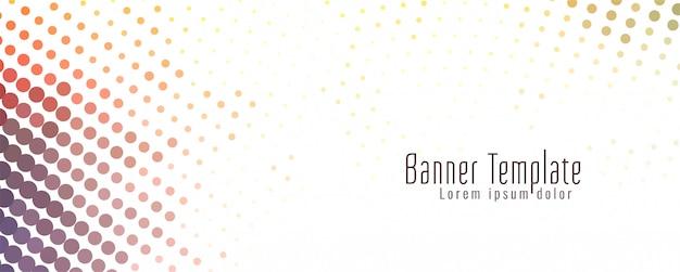 Abstracte kleurrijke halftone banner