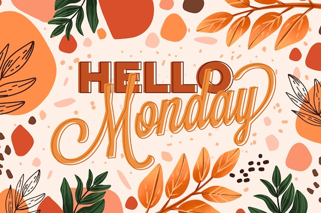 Abstracte kleurrijke hallo maandag achtergrond